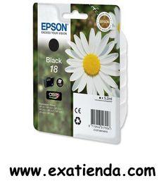 Ya disponible Cartucho Epson c13t180140 negro     (por sólo 8.94 € IVA incluído):   - TINTA NEGRA MARGARITA EPSON 18 - Compatible con: XP102/XP205/XP305/XP405/XP202 - 175 PAGINAS - Color: Negro  - P/N: C13T180140010 Garantía de fabricante  http://www.exabyteinformatica.com/tienda/3379-cartucho-epson-c13t180140-negro #epson #exabyteinformatica