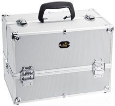 SHANY Silver Aluminum Makeup Case, 4 Pounds SHANY Cosmetics http://www.amazon.com/dp/B000O3OZD6/ref=cm_sw_r_pi_dp_jYZZtb0S2JQCPSP6