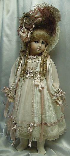 Dress by Dollightfully Yours ♥ Cheryl Imbornone ♥ Dollightfully Yours ♥ Victorian Dolls, Antique Dolls, Vintage Dolls, Pretty Dolls, Beautiful Dolls, Girl Dolls, Baby Dolls, Effanbee Dolls, China Dolls