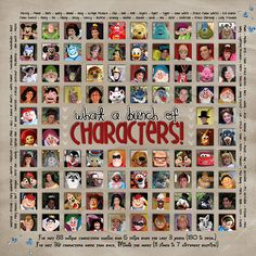 Disney characters layout - What a Bunch of Characters!  @Lynn Desroche :) -- love this layout!