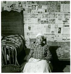 """Mulatto ex-slave in her house near Greensboro, Alabama, May 1941.. ""  Delano, Jack -- Photographer. May 1941"