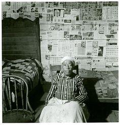 """Mulatto ex-slave in her house near Greensboro, Alabama, May 1941.. ""  Delano, Jack -- Photographer. May 1941"