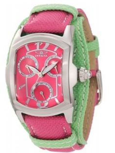 Pink and green watch