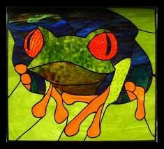 Stained glass tree frog