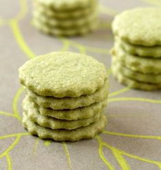Matcha green tea shortbread – Ôdélices: Easy and original cooking recipes! Matcha Cookies, Donut Recipes, Cookie Recipes, Dessert Recipes, Xmas Cookies, No Bake Cookies, Baking Cookies, Green Tea Recipes, Sweet Recipes