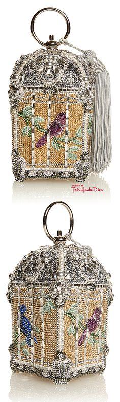 Judith Leiber Fall/Winter 2015 Couture ♔ Birdcage Solarium Clutch— Très Haute Diva