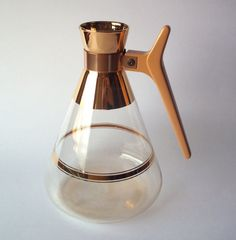 Inland Atomic Carafe Coffee Container With 22 Carat Gold Accents