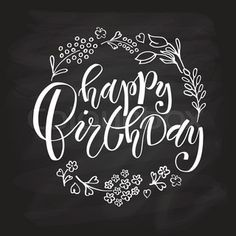 Stock vector of 'Hand sketched Happy Birthday text as Birthday logotype, bad., Stock vector of 'Hand sketched Happy Birthday text as Birthday logotype, bad…, Handlettering Happy Birthday, Happy Birthday Hand Lettering, Happy Birthday Font, Birthday Doodle, Birthday Text, Birthday Greetings, Caligraphy Happy Birthday, Happy Birthday Chalkboard, Calligraphy Birthday Card