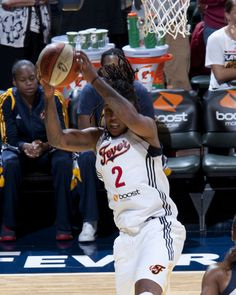 Erlana Larkins grabs one of her 20 rebounds in the Fever's Game 3 win over Atlanta in the 2012 Eastern Conference Semi-Finals. Fever 75, Dream 64