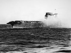 USS Lexington on Fire and Sinking, Battle of Coral Sea, 8th May, 1942 Photographic Print at AllPosters.com