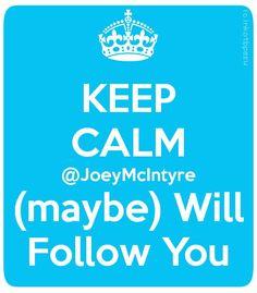 Keep Calm W/ @NKOTB @JoeyMcIntyre