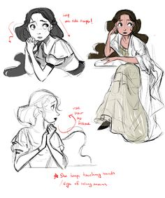 PHANTOM OF THE OPERA #4 PROCESS SKETCHES: CHRISTINE DAAEChristine's ultimate role in the story is being the 'damsel in distress', who decides to stand up and face the man she fears and loves the most in the end. I thought of her as a butterfly of the opera (more of it shows in her room design) and a fragile but beautiful porcelain doll. She is always in fear of a man or angel she herself is confused if she thinks of him as a father or a teacher, or is he just a murderer. I tried to give her…