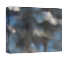 Snow Covered Trees I Abstract Canvas Wall Art