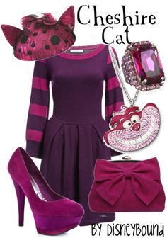 "DisneyBound ""Cheshire Cat"" Alice in Wonderland Alice In Wonderland Outfit, Wonderland Costumes, Disney Themed Outfits, Disney Dresses, Disney Mode, Disneybound Outfits, Chesire Cat, Estilo Disney, Disney Inspired Fashion"