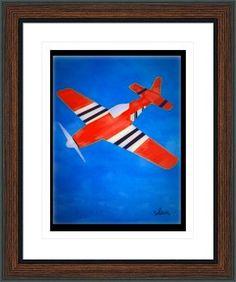 red airplane 10216, by  fractal mandala art