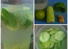 Água de limão, pepino e gengibre reduz peso e barriga em poucos dias