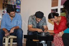 Aditya and Kunaal inaugurate a ceramic pottery exhibition | PINKVILLA