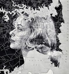 """""""The idea of harmonizing a portrait with a map suggests that we are a product of the landscape."""" – Ed Fairburn"""