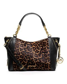 MICHAEL Michael Kors  Large Stanthorpe Calf-Hair Satchel.