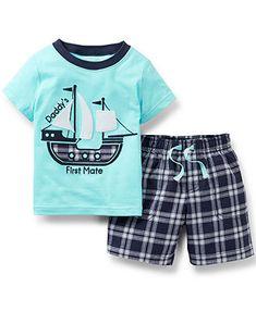Carter's Baby Boys' 2-Piece Shirt & Shorts Set