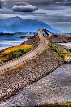 It's like a mini roller coaster: Atlantic Road, Norway. Amazing.
