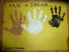 Martin Luther King craft to do with kids  http://mamato5blessings.com/2013/01/martin-luther-king-jr-lapbook-craft-learn-link/