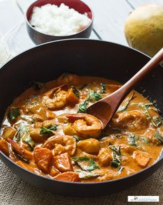 Thai Red Curry with Shrimp and Mango