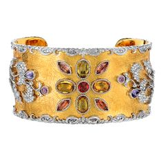 Bracelet with Diamonds and Multi-coloured Sapphies - Victor Velyan