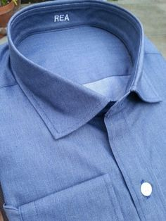 #jhilburn #theriseoffall Blue Chambray with contrast stitching, no pleats, and styled perfectly.  #customshirt #fashionformen #menswear #mensfashion #mensstyle IM me for details on how to get yours. #gifts #giftsfordad