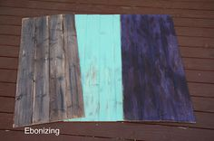 DIY wood backdrops: make your own stain