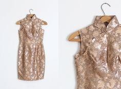 LAGERLUFT Jahrgang 1960er Jahre Cheongsam Kleid von TrunkofDresses