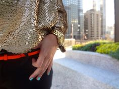 Sequins + Neon = New favorite combo
