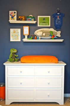 William's Whimsical Blue, Orange and Green Nursery - Project Nursery