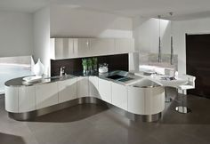 Curved kitchens - German kitchen
