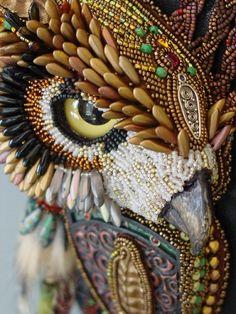 A beautiful piece by embroidery bead artist: Heidi Kummli