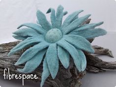 Felted Flower - I can't imagine how you would make this but I love it!!!