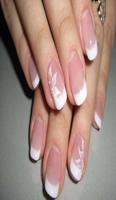 Ideas french manicure designs simple wedding nails for 2019 French Manicure Nail Designs, Accent Nail Designs, French Tip Nails, Manicure And Pedicure, Nail Art Designs, Manicure Ideas, French Manicures, Diy Nails, Glitter Nails