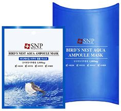 SNP Bird's Nest Aqua Ampoule Mask (New Version (Pack of - Moisturizing & Relieving Irritated Skin Swiftlet Nest, Online Beauty Store, Soft Cell, Body Cleanser, Sheet Mask, Wash Your Face, Facial Care, Skin Care Tips, Bath And Body