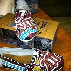 Texas A&M Painted Toms