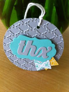 Thanks tag using Stampin' Up! Thinlits Card Dies companion extras.