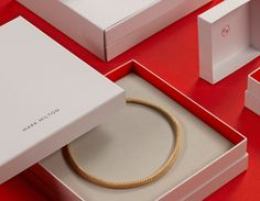 Visual identity and packaging designed by ico for curated jewellery brand Mark Milton.