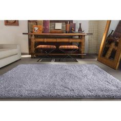 Tapete Villa Textil Soft G Cinza 150x200 - Americanas.com
