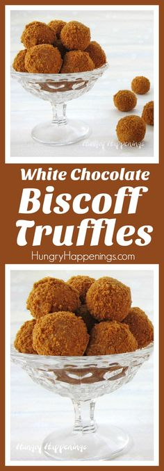 Biscoff Truffles Blend white chocolate with Biscoff Cookie Butter to make these luxuriously rich and creamy truffles rolled in Biscoff Cookie Crumbs. These super easy Biscoff Truffles will definitely become one of your favorite candies to make Biscoff Cookie Butter, Biscoff Cake, Biscoff Cookies, White Chocolate Truffles, Oreo Truffles, Chocolate Brownies, Chocolate Covered, Chocolate Roll, Truffle Butter