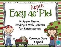"""187 pages of Common Core aligned math and literacy fun for Kindergarten! (7 math and 7 literacy activities). Includes Kinder-friendly """"I Can"""" charts, detailed teacher direction pages, common core standards. Download the 4 page preview to check it out! by andrea"""