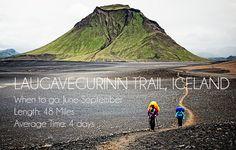 Top Ten Trails: Laugavegurinn Trail, Iceland