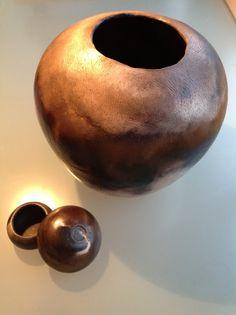 Frances Marr smoke fired ceramics