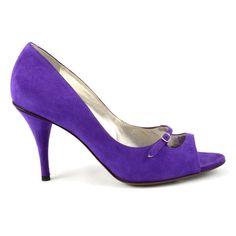 #DOLCE #gabbana #pumps #opentoe #purple #shopatvoi $347.00