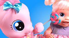 Куклы Пупсики Бэби Элайв Лепит Play Doh Большая конфета ШОК! Драка конфе...