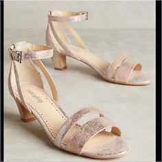 """Lvg 8-2 Final $ Anthropologie Sandals Farylrobin Paige Heels by Farylrobin Fits true to size Adjustable buckle Leather upper Leather insole Synthetic sole, 2"""" stacked leather or leather wrapped heel. 9.5"""" L insole. Anthropologie Shoes Sandals"""