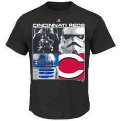 Men's Majestic Cincinnati Reds Star Wars Main Character Tee $8.40
